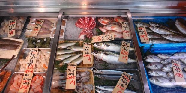 土浦繁盛記 魚やのレトロな冷蔵ケース